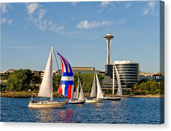 Space Needle Seattle Canvas Print by Tom Dowd