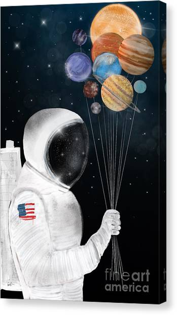 Solar System Canvas Print - Space Party by Bri Buckley