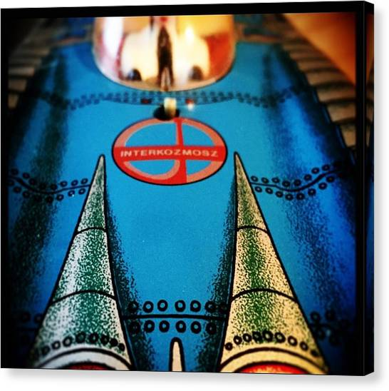 Toy Airplanes Canvas Print - Space Ride by Tina Erickson