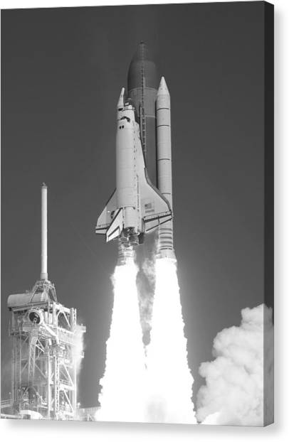 Space Ships Canvas Print - Space Shuttle Atlantis Launch by War Is Hell Store