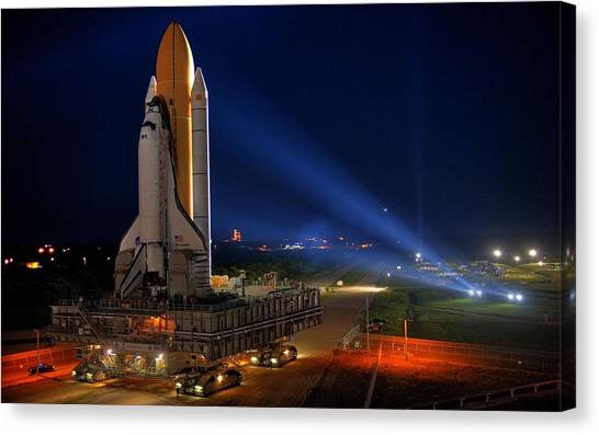 Space Ships Canvas Print - Space Shuttle Discovery by Mariel Mcmeeking