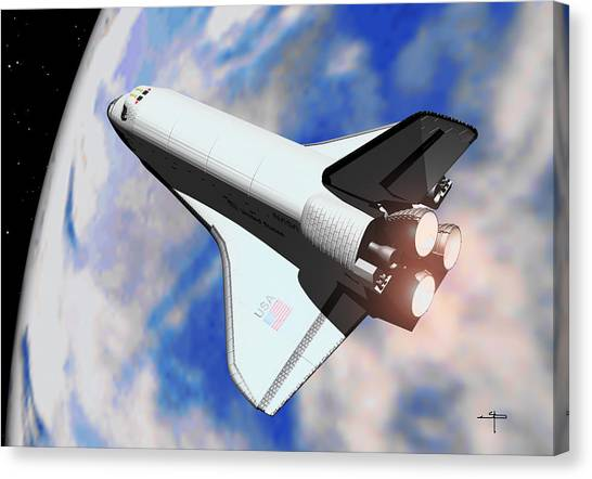 Space Shuttle Discovery Canvas Print by Steven Palmer