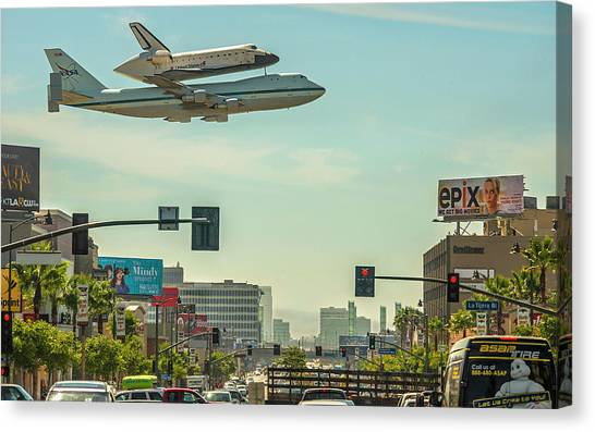 Space Ships Canvas Print - Space Shuttle Endeavour by Maye Loeser