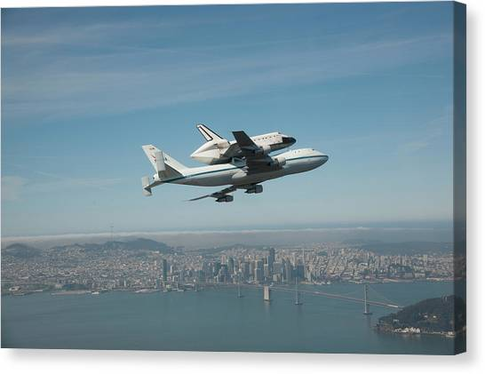 Space Ships Canvas Print - Space Shuttle Endeavour by Super Lovely