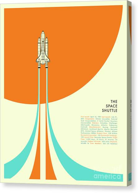 Space Ships Canvas Print - Space Shuttle  by Jazzberry Blue