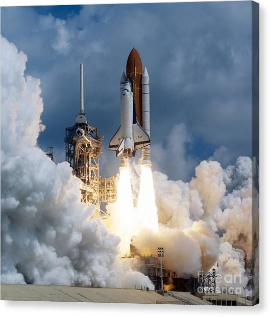 Space Shuttle Canvas Print - Space Shuttle Launching by Stocktrek Images