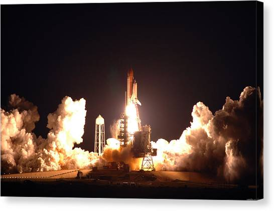 Space Ships Canvas Print - Space Shuttle by Maye Loeser
