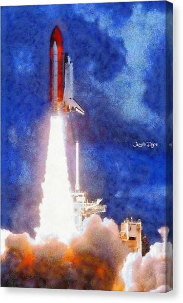 Off Canvas Print - Space Shuttle - Pa by Leonardo Digenio