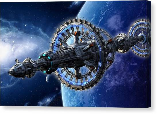 Space Station Canvas Print - Space Station by Maye Loeser