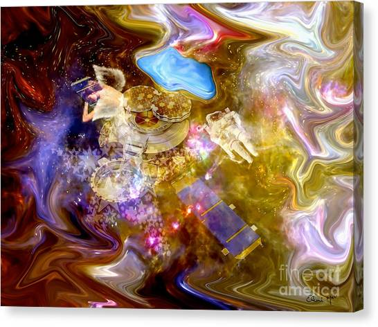 Spaced Out Canvas Print by Eleni Mac Synodinos