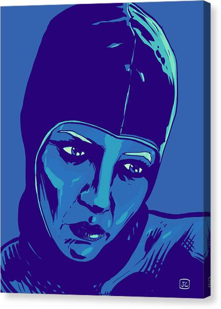 Science Canvas Print - Spaceman In Blue by Giuseppe Cristiano
