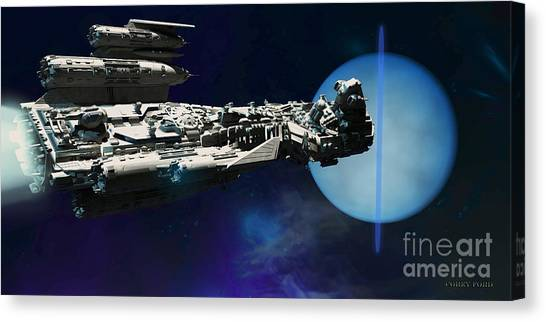 Stellar Canvas Print - Spaceship To Neptune by Corey Ford
