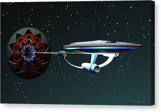 Space...the Final Frontier Canvas Print by Walter Oliver Neal