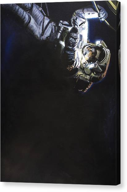 Astronauts Canvas Print - Spacewalk 1  by Simon Kregar