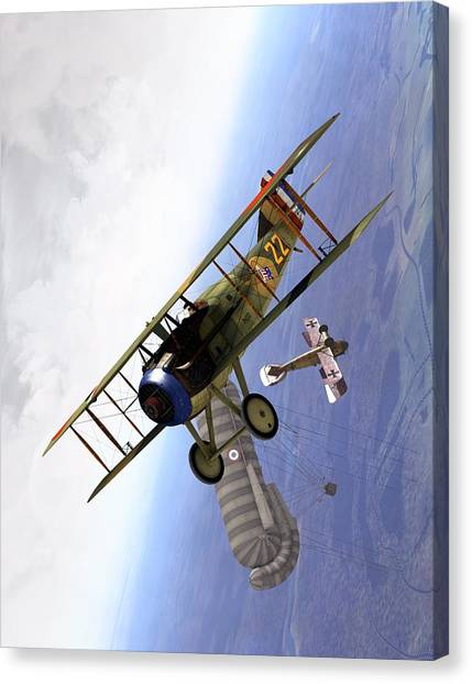 Spad Balloon Cap Canvas Print