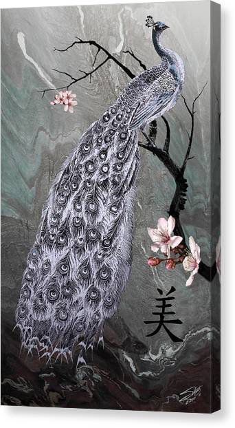 Spades Peacock Canvas Print