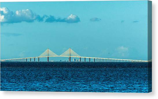 Interstates Canvas Print - Span Over St. Petersburg by Marvin Spates