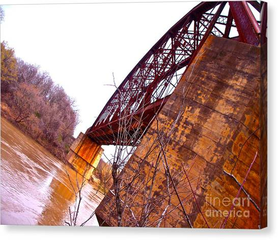 Span The Brazos Canvas Print by Chuck Taylor