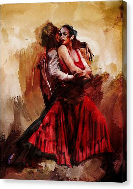 Salsa Canvas Print - Spanish Culture 10 by Corporate Art Task Force
