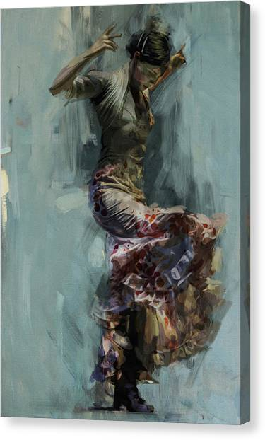 Flamenco Canvas Print - Spanish Culture 9 by Corporate Art Task Force
