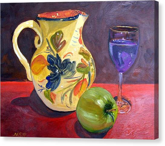Spanish Sangria Canvas Print by Maria Soto Robbins