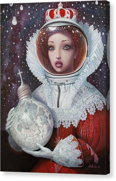 Space Suit Canvas Print - Spanish Space Armada by Adrian Borda