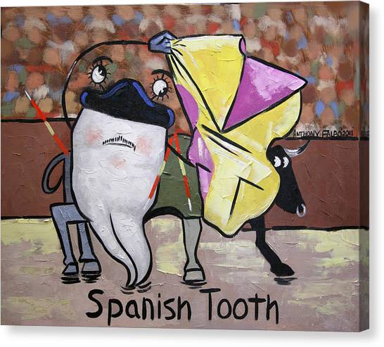 Giclee On Canvas Print - Spanish Tooth by Anthony Falbo