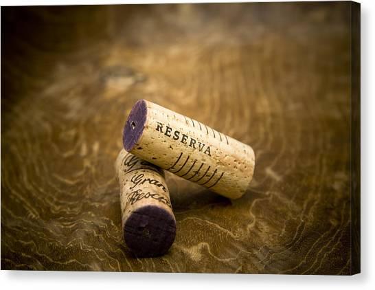 Bodega Canvas Print - Spanish Wine Corks - Reserva And Gran Reserva by Frank Tschakert