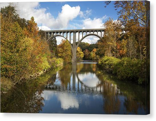 Spanning The Cuyahoga River Canvas Print
