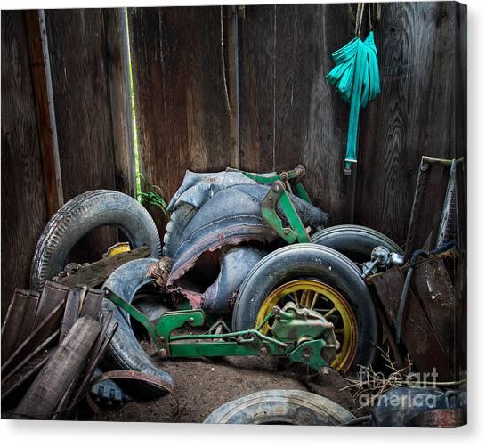Spare Tires A-plenty Canvas Print by Royce Howland