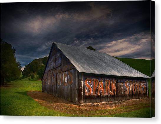 Spark Stoves Barn Canvas Print