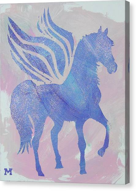 Sparkle Pegasus Canvas Print