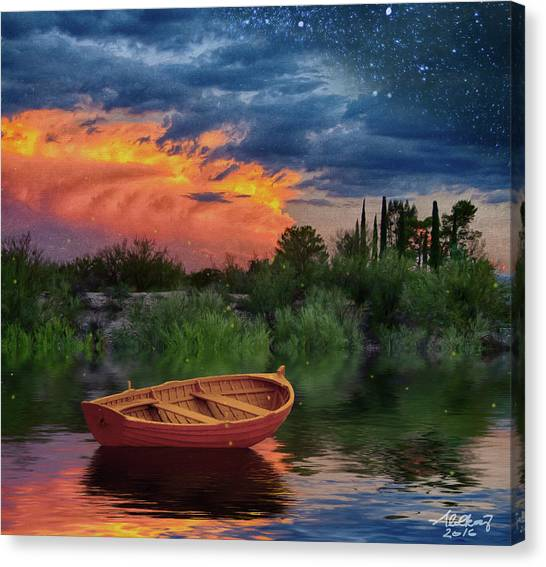 Sparkle Pond Canvas Print