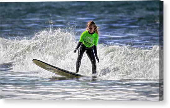 Sparkle Surf Canvas Print