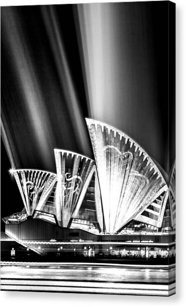 The Crown Canvas Print - Sparkling Blades Bw by Az Jackson
