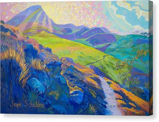 Cal Poly Canvas Print - Sparkling Sunshine by Jayne Schelden