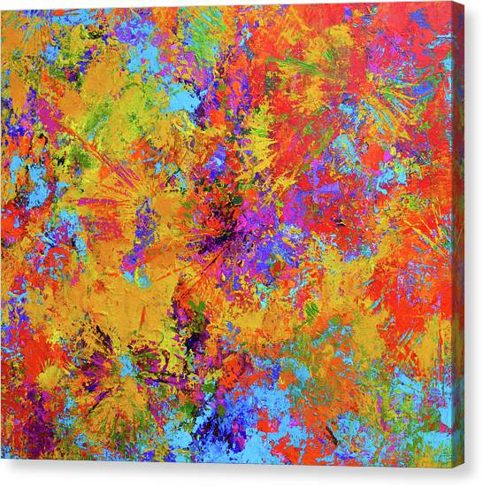 Sparks Of Consciousness Modern Abstract Painting Canvas Print