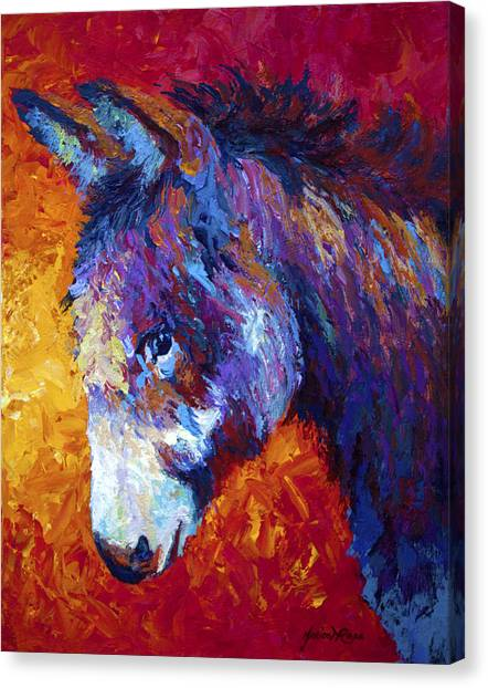 Farm Animals Canvas Print - Sparky by Marion Rose