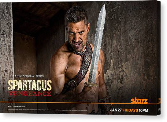 Torso Canvas Print - Spartacus by Super Lovely