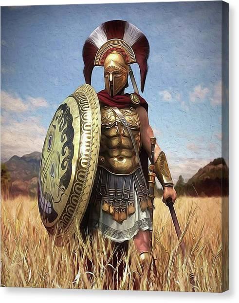 Spartan Hoplite - 02 Canvas Print