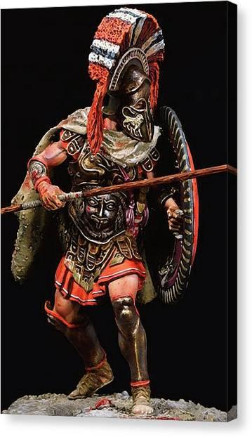 Spartan Hoplite - 05 Canvas Print