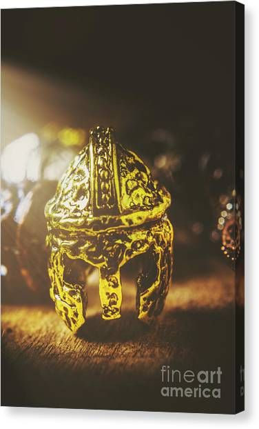 Greek Art Canvas Print - Spartan Military Helmet by Jorgo Photography - Wall Art Gallery