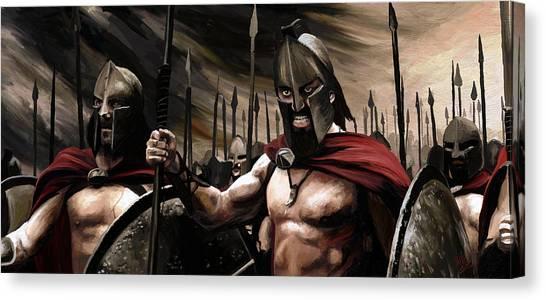 Spartans 300 Canvas Print
