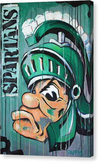 Volleyball Canvas Print - Spartans by Julia Pappas