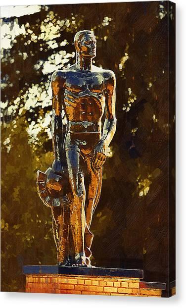 Big Ten Canvas Print - Sparty by Paul Bartoszek