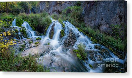 Spearfishing Canvas Print - Spearfish Falls by Twenty Two North Photography