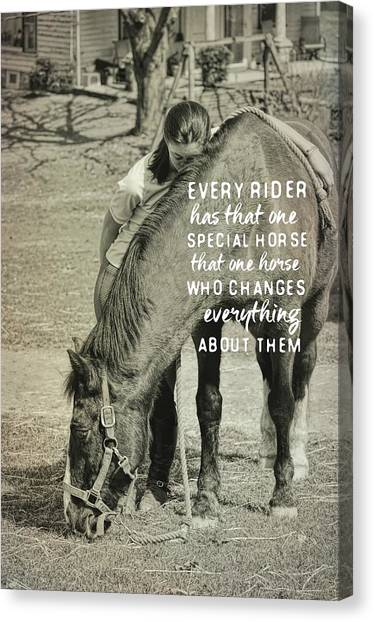 Special Bond Quote Canvas Print