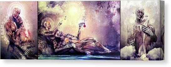 Special Edition Three In One Panel Love Set Canvas Print by Cameron Gray