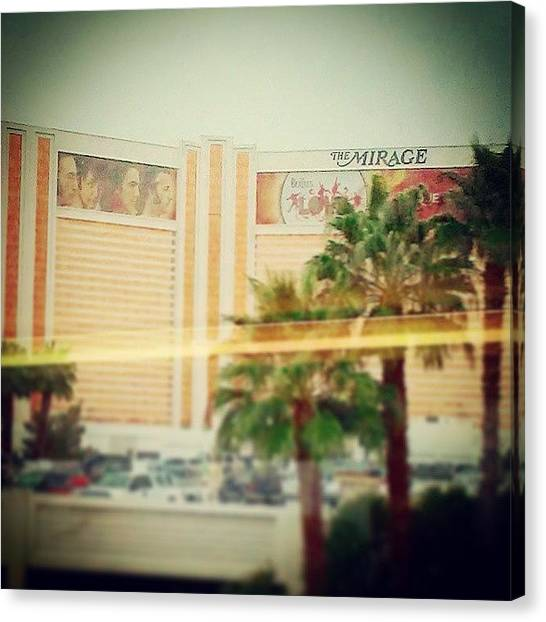 Mirages Canvas Print - Special Request #vegas #mirage #beatles by Sean Gunnells