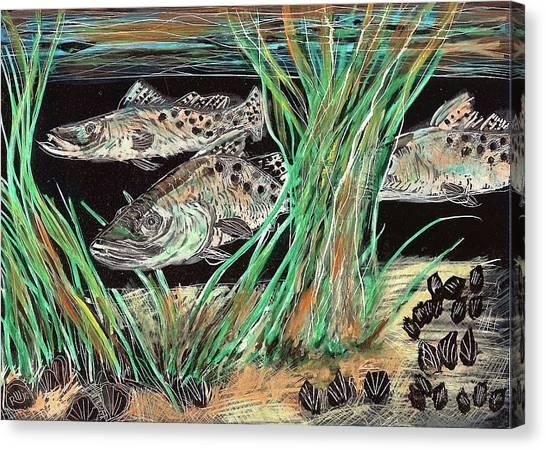 Specks In The Grass Canvas Print